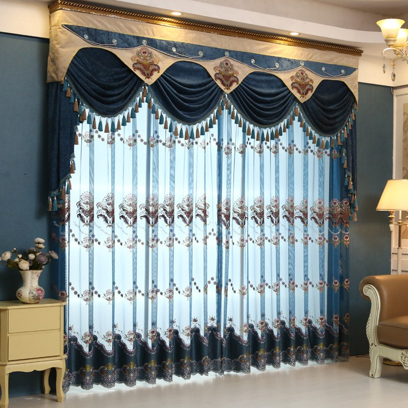 Blue Valance Curtains