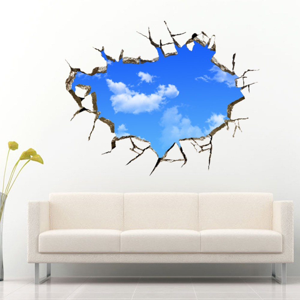 Blue Wall Decals