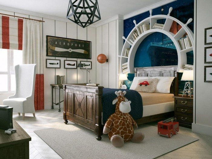 Boat Themed Kids Bedroom