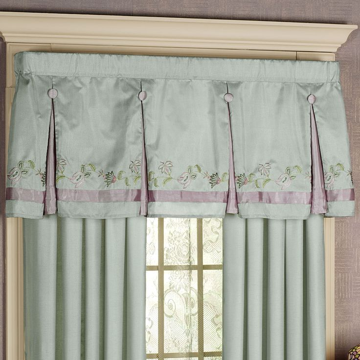 Box Pleat Valances Window Treatments