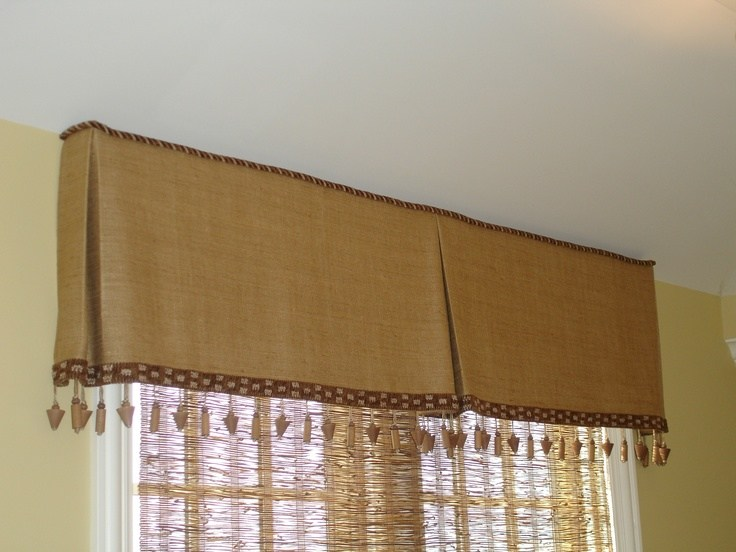 Box Pleated Valances Window Treatments