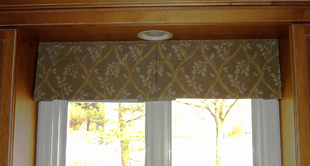 Box Pleated Window Valance