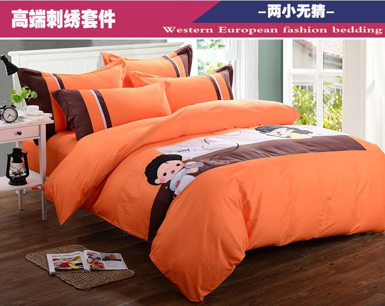 Bright Orange Comforter Sets
