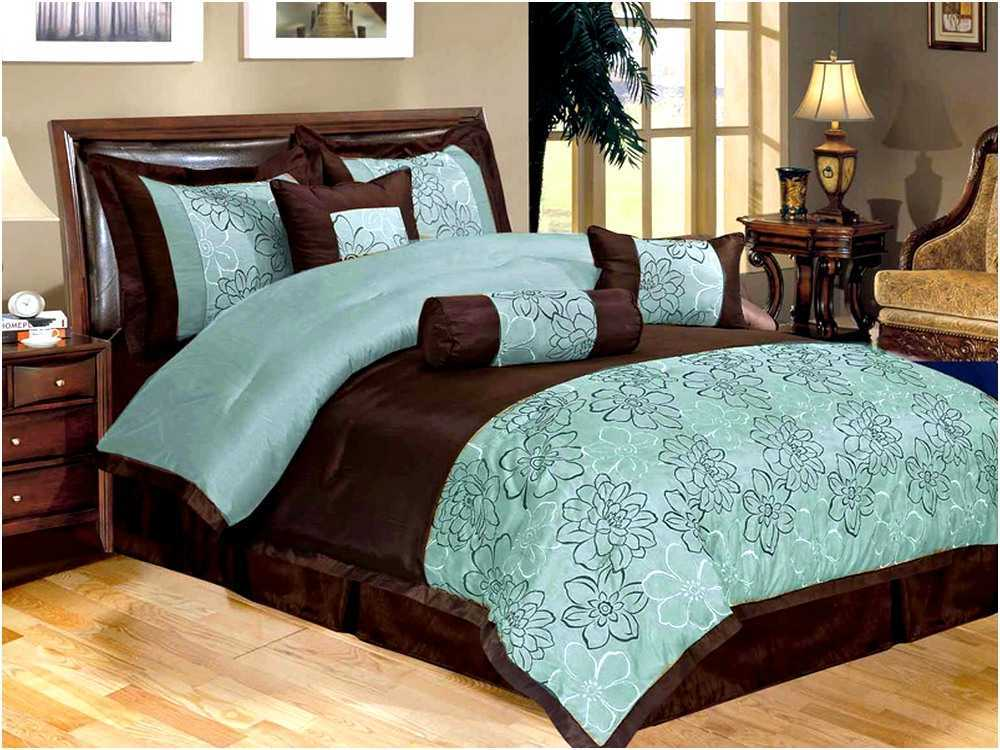 Brown And Aqua Comforter Sets