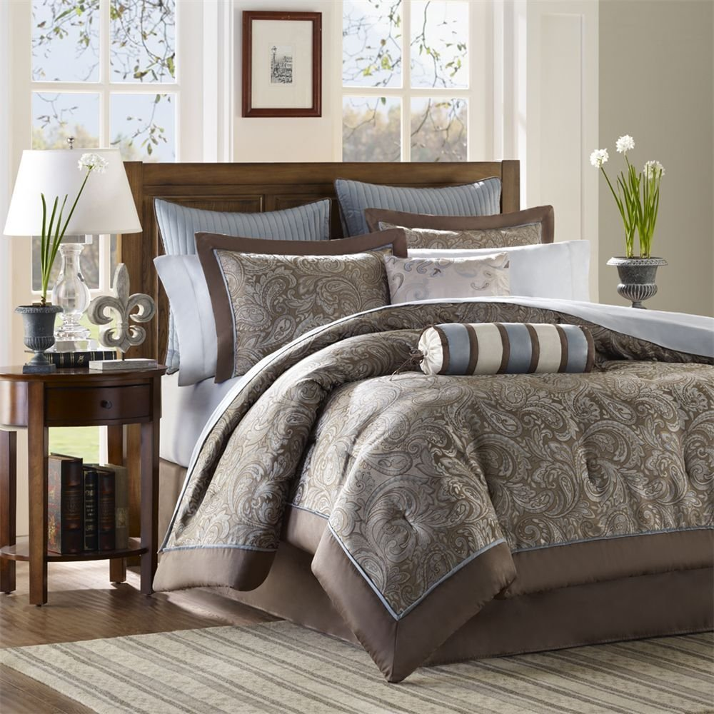 Brown And Blue Comforter Sets