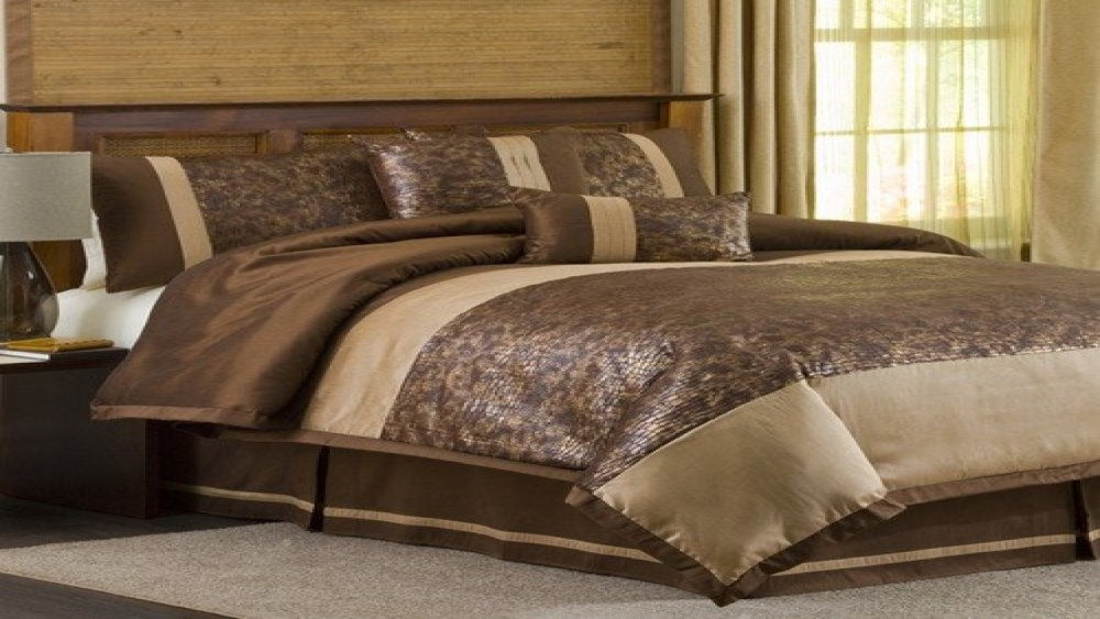 Brown And Gold Comforter Sets