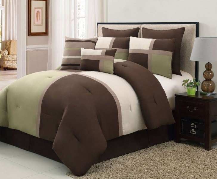 Brown And Green Comforter Set