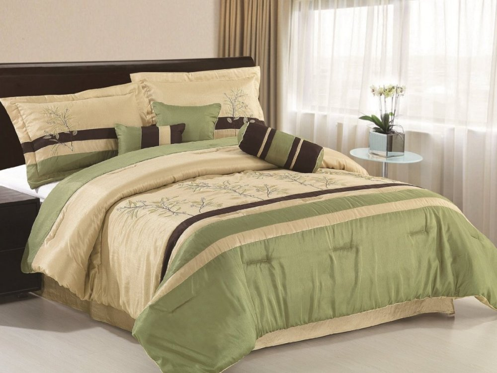 Brown And Green Comforter Sets