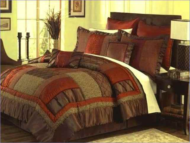 Brown And Orange Comforter Set