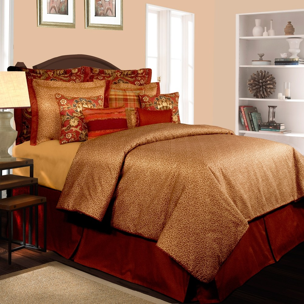 Brown And Red Comforter Sets