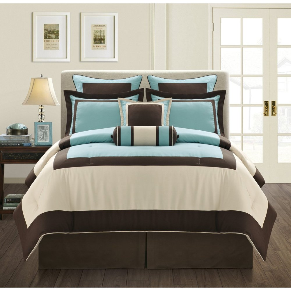 Brown And Turquoise Comforter Sets