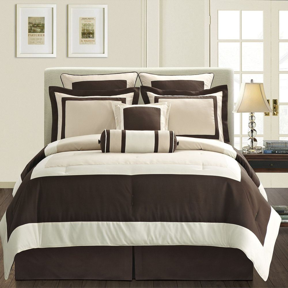 Brown And White Comforter Set