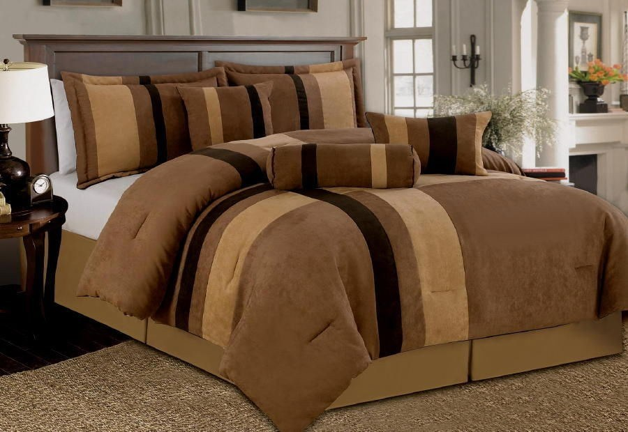 Brown Comforter Set King