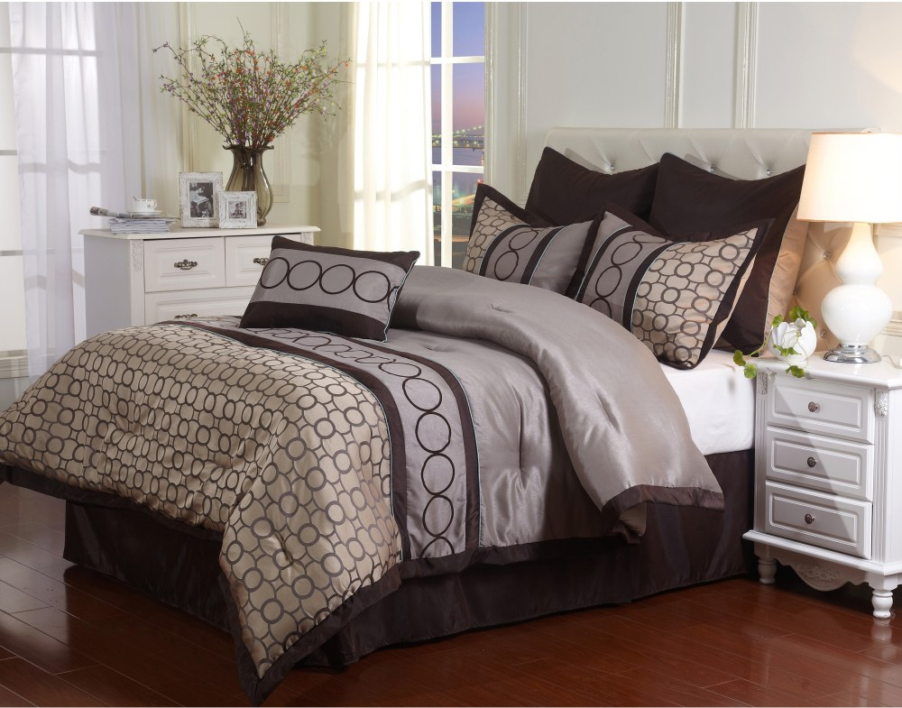 Brown Comforter Set Queen Size
