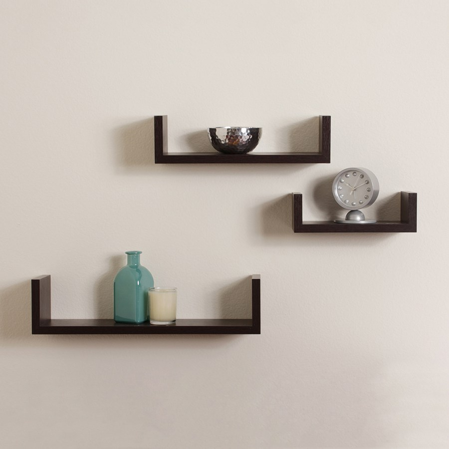 Brown Floating Shelves