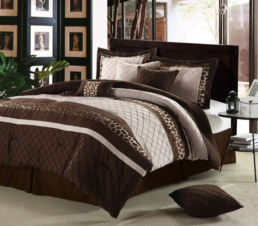 Brown King Size Comforter Set