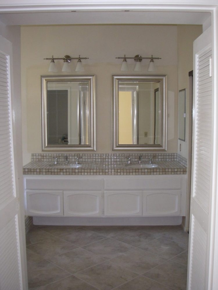 Brushed Nickel Bathroom Mirrors