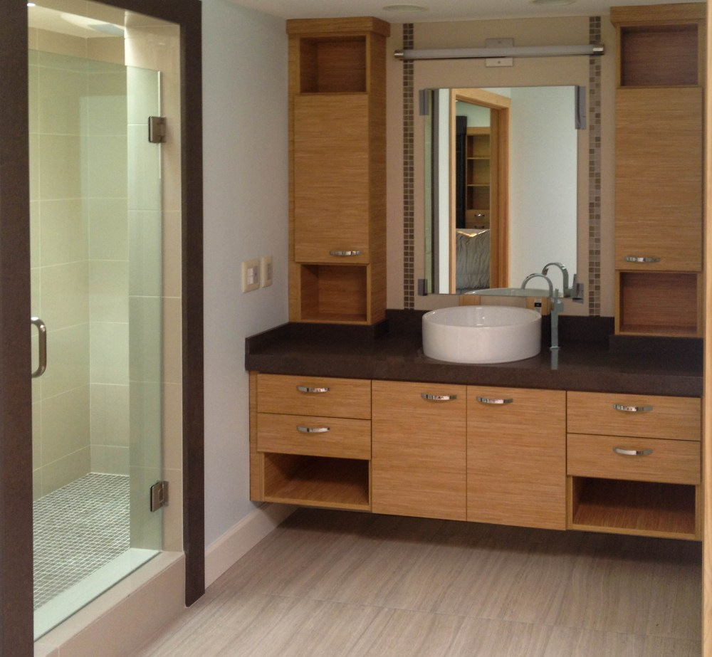 Built In Bathroom Storage Cabinets