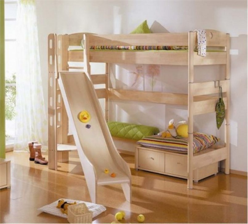 Bunk Bed For Kids With Slide