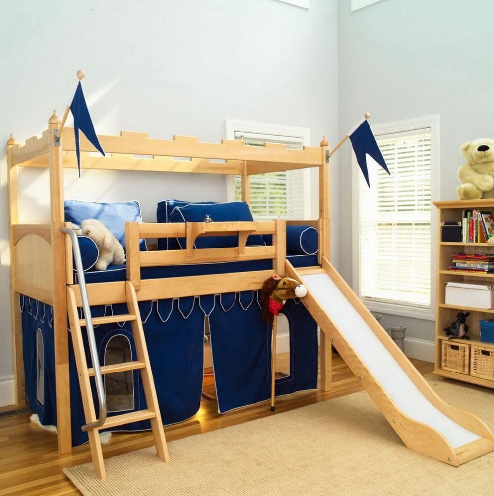Bunk Beds With Slides Cool Kids