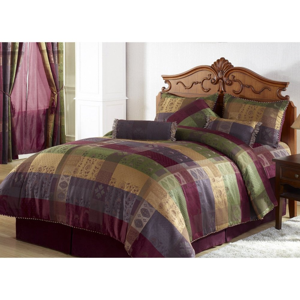 Burgundy Bed Comforter Sets