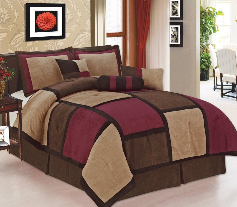 Burgundy Comforter Set Full