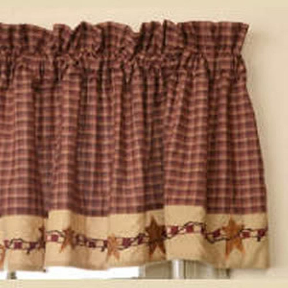 Burgundy Drapes And Valances