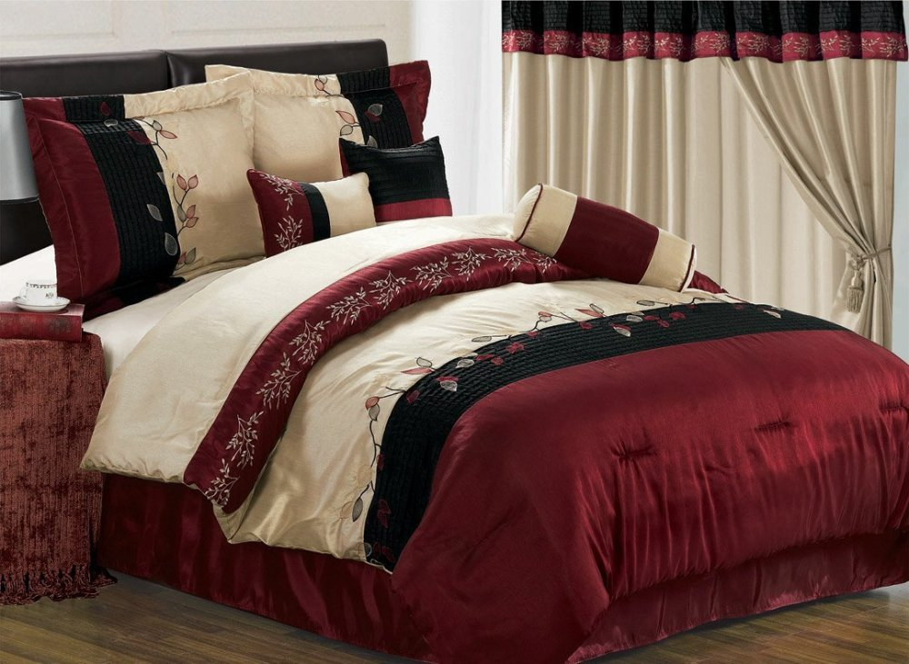 Burgundy King Comforter Sets