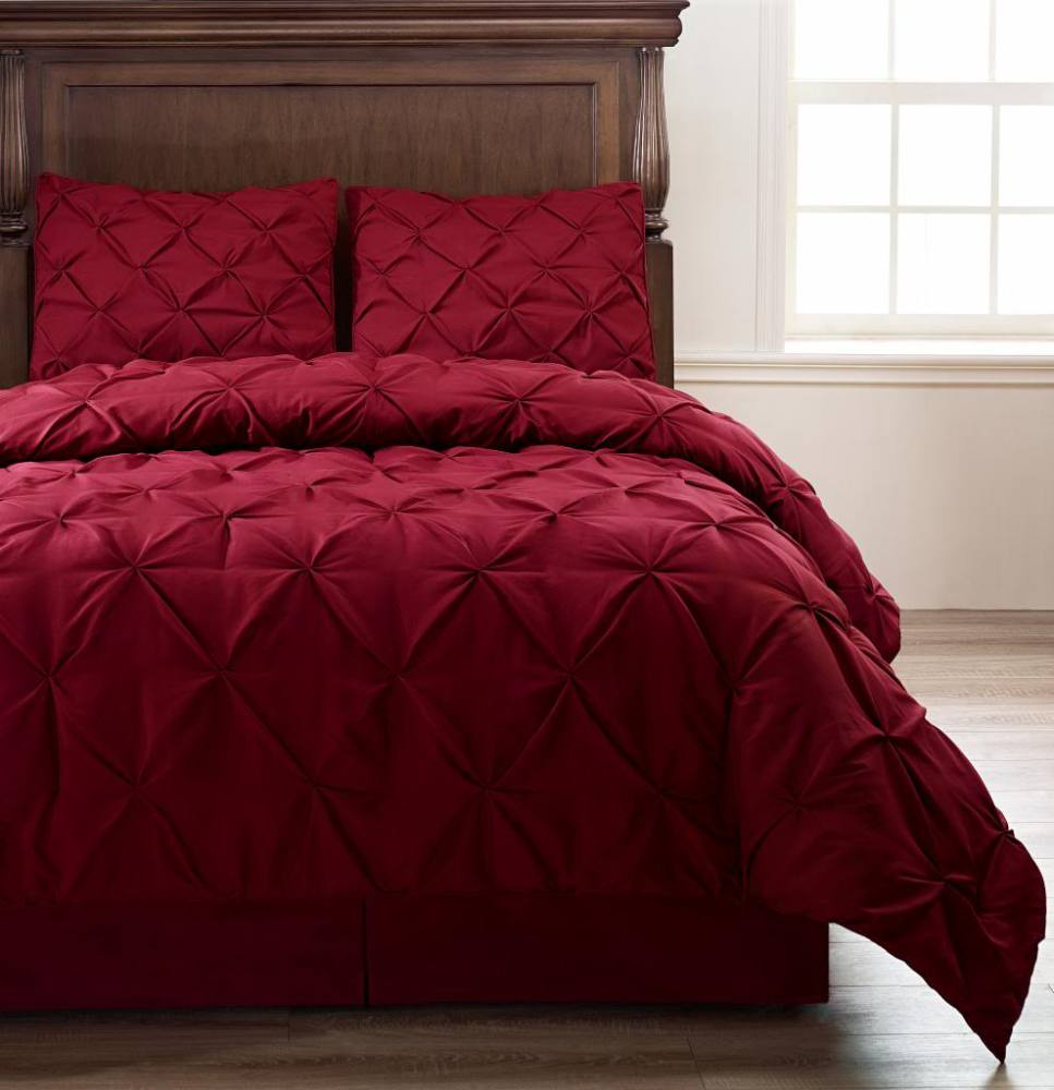 Burgundy King Size Comforter Set