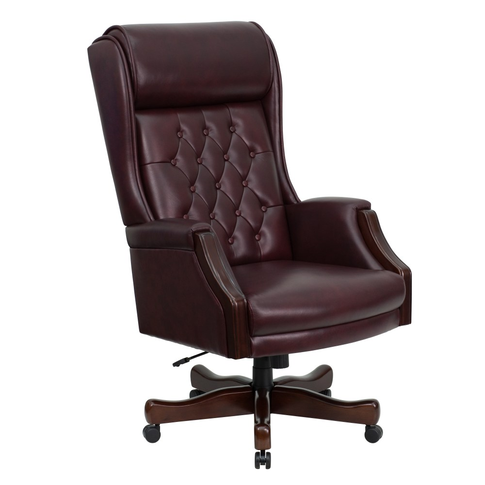 Burgundy Office Chair Leather
