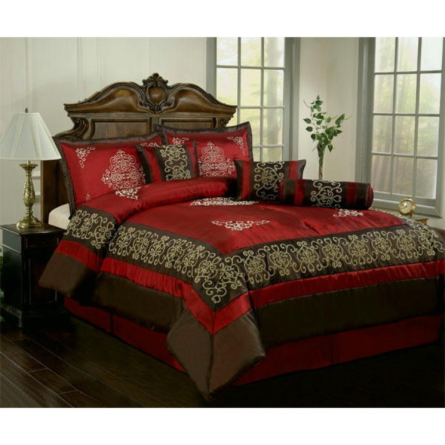 Burgundy Queen Comforter Set