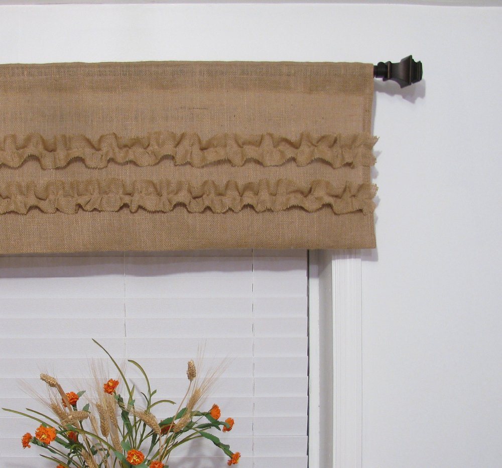 Burlap Valance Window Treatments