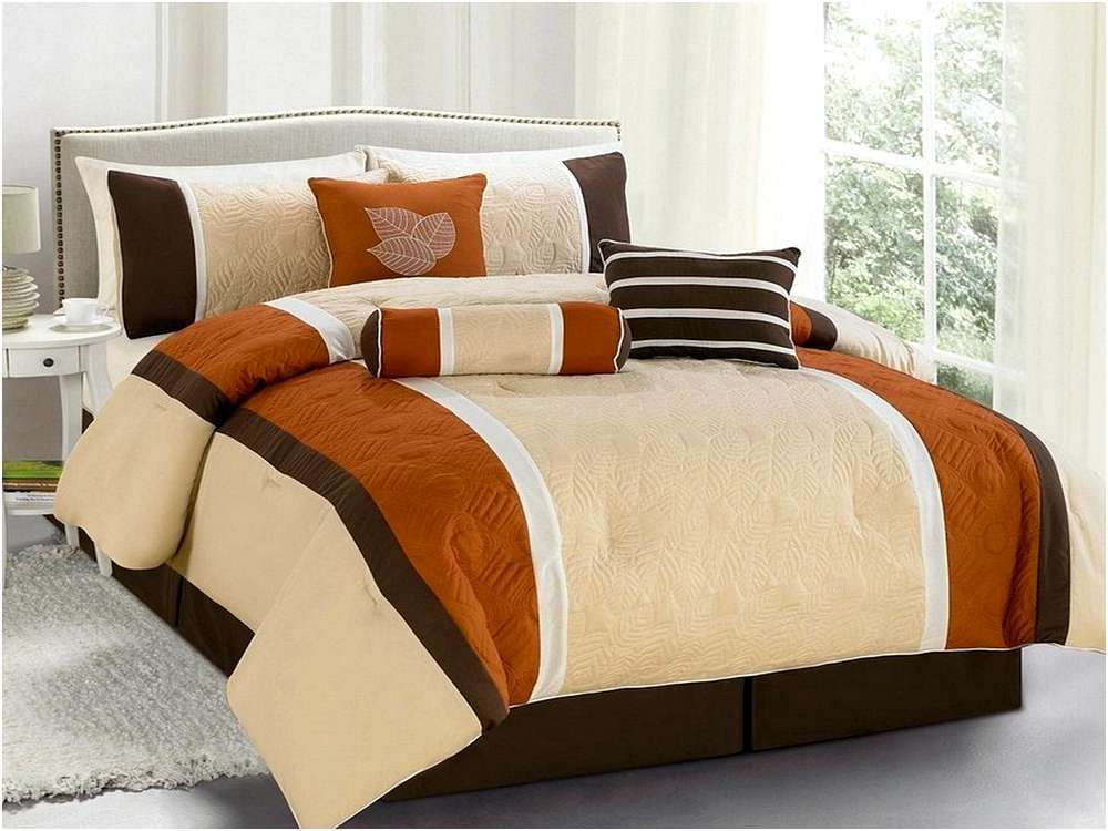 Burnt Orange Queen Comforter Set