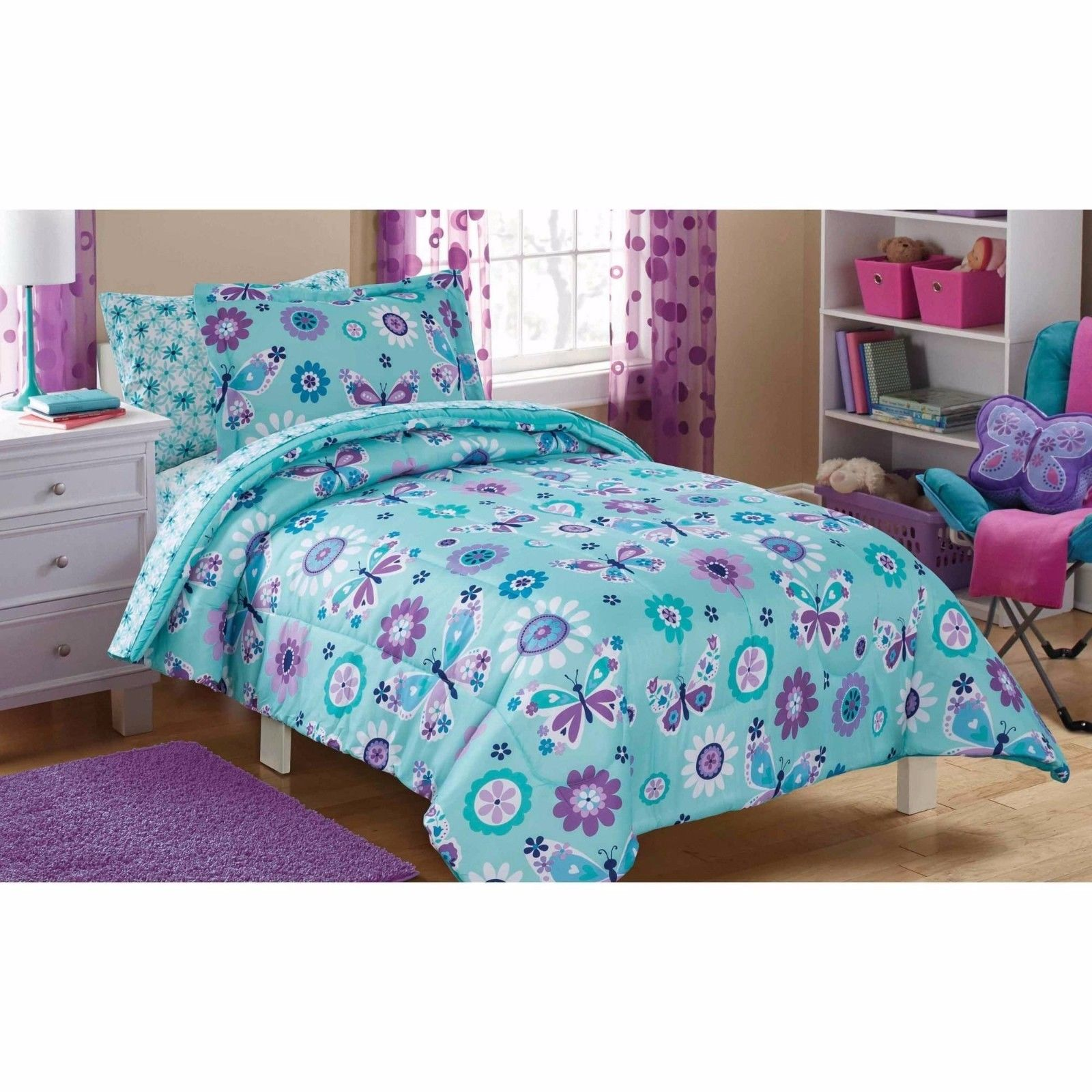 Butterfly Comforter Set Twin