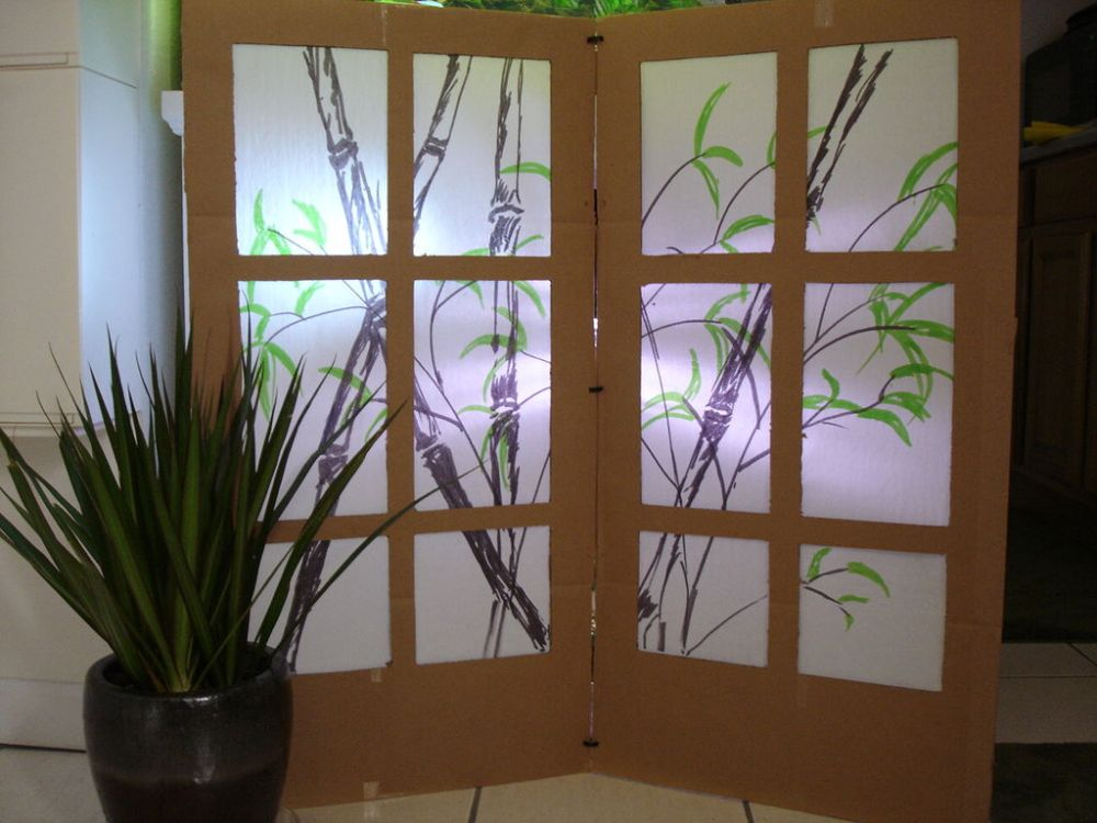 Cardboard Room Dividers Diy