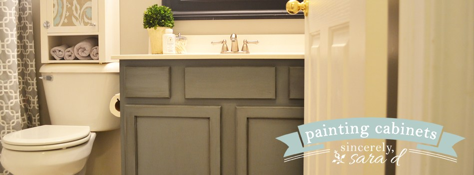 Chalk Paint Bathroom Cabinets