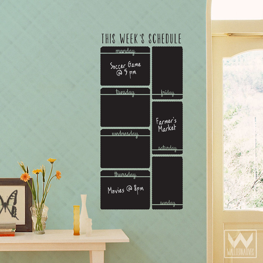 Chalkboard Wall Decal Calendar
