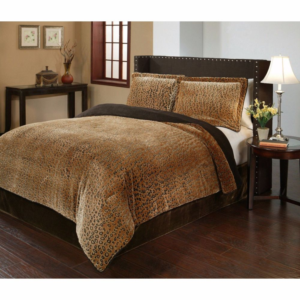 Cheetah Print Queen Comforter Set