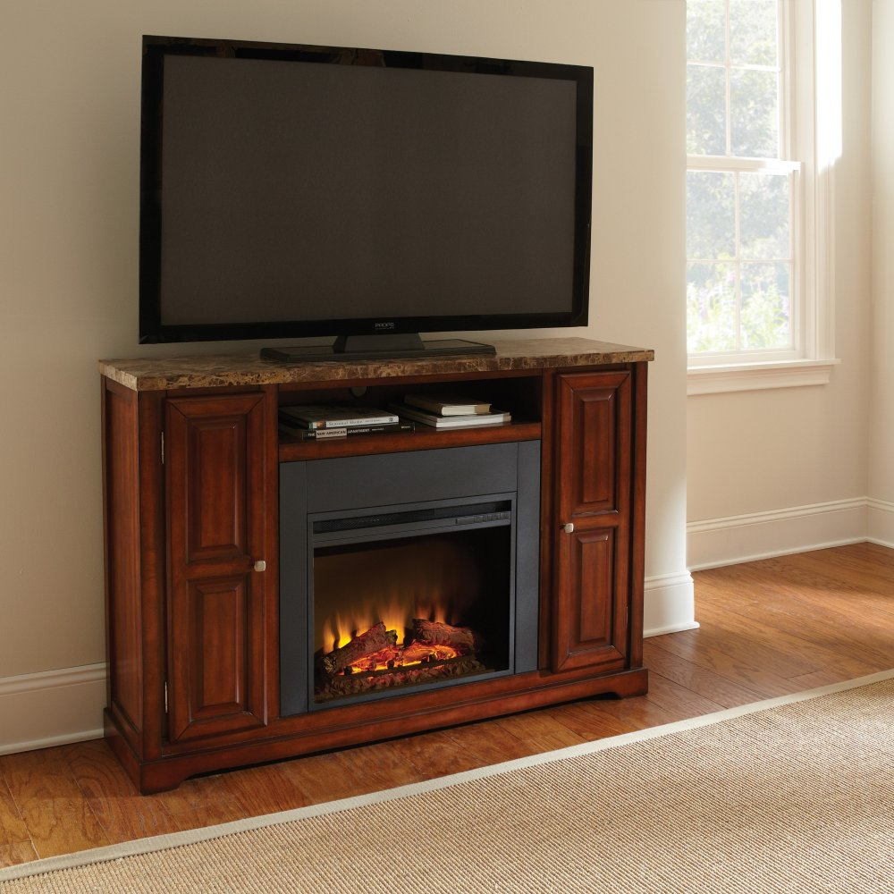 Cherry Fireplace Tv Stand