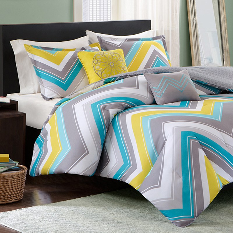 Chevron Comforter Set Full