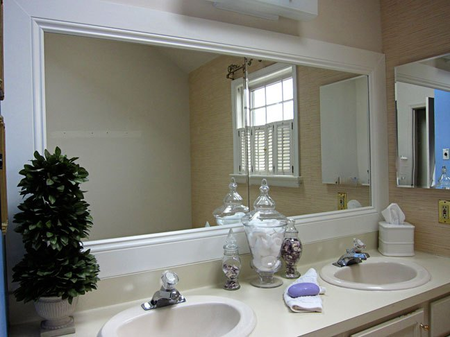 Chrome Bathroom Mirror Trim