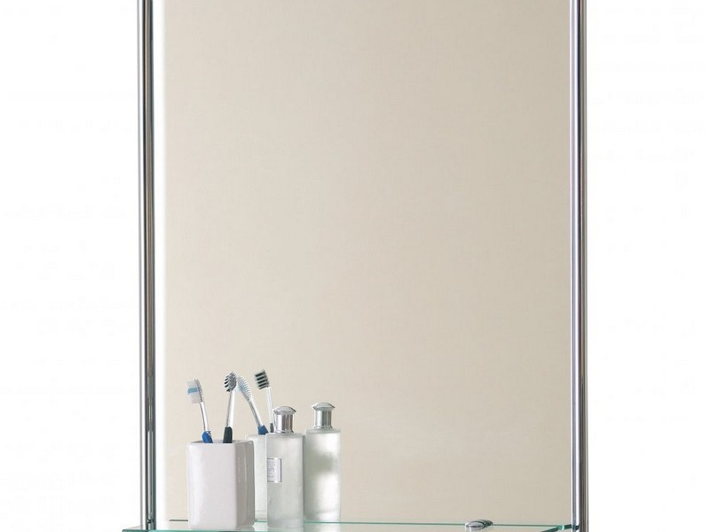 Chrome Bathroom Mirror With Shelf