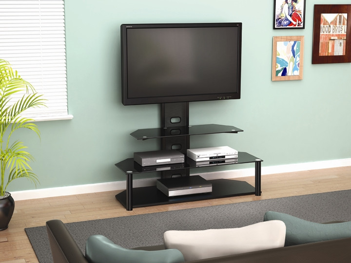 Chrome Tv Stand With Mount
