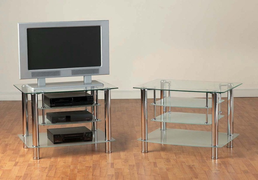 Chrome Tv Stands