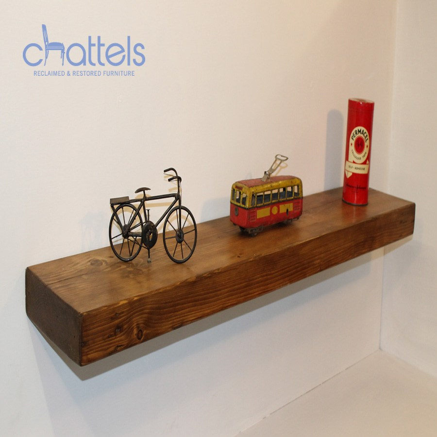 Chunky Wooden Floating Shelves