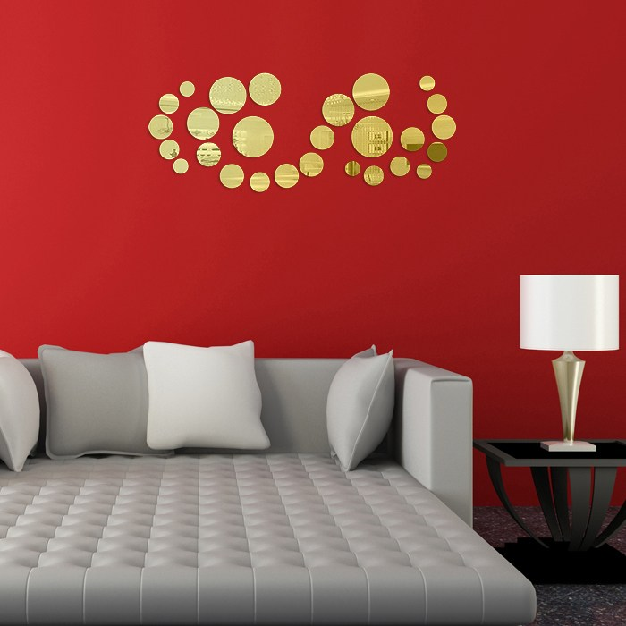 Circle Mirror Wall Decals