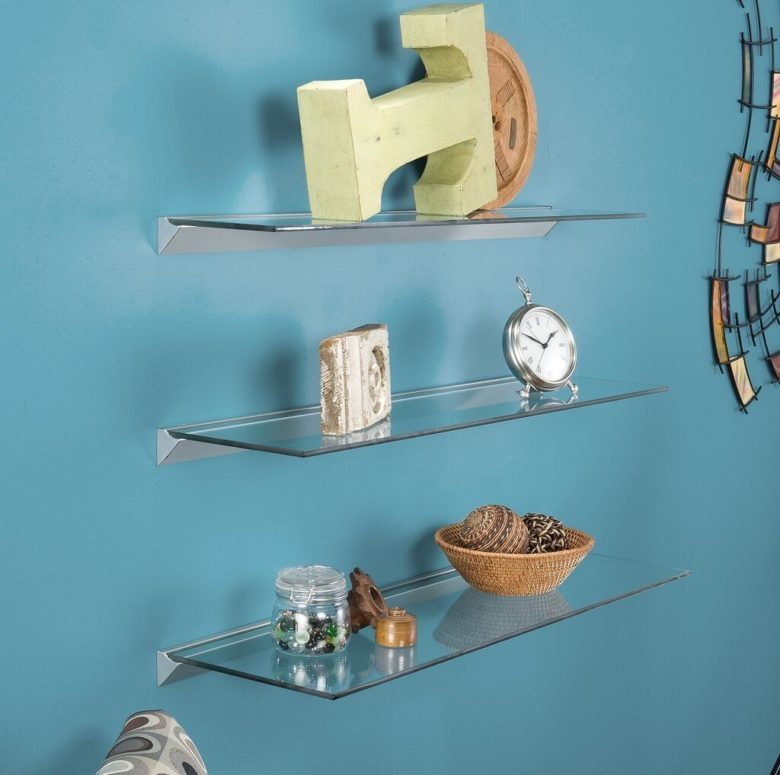 Clear Floating Shelves