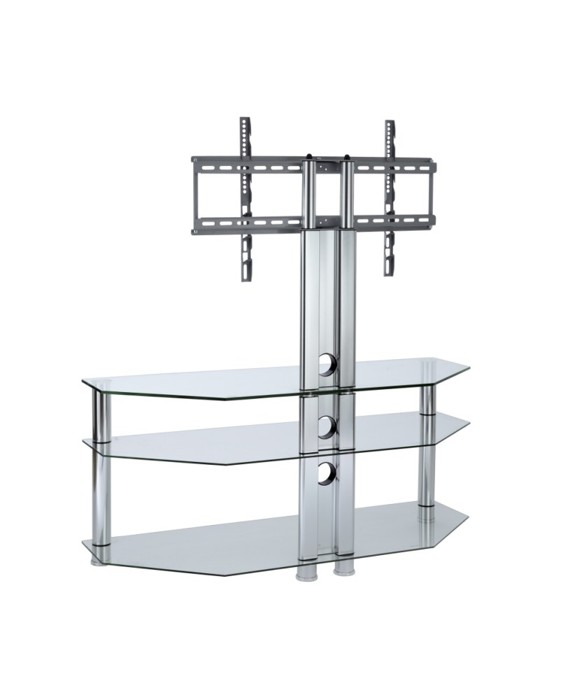 Clear Glass Tv Stand With Mount