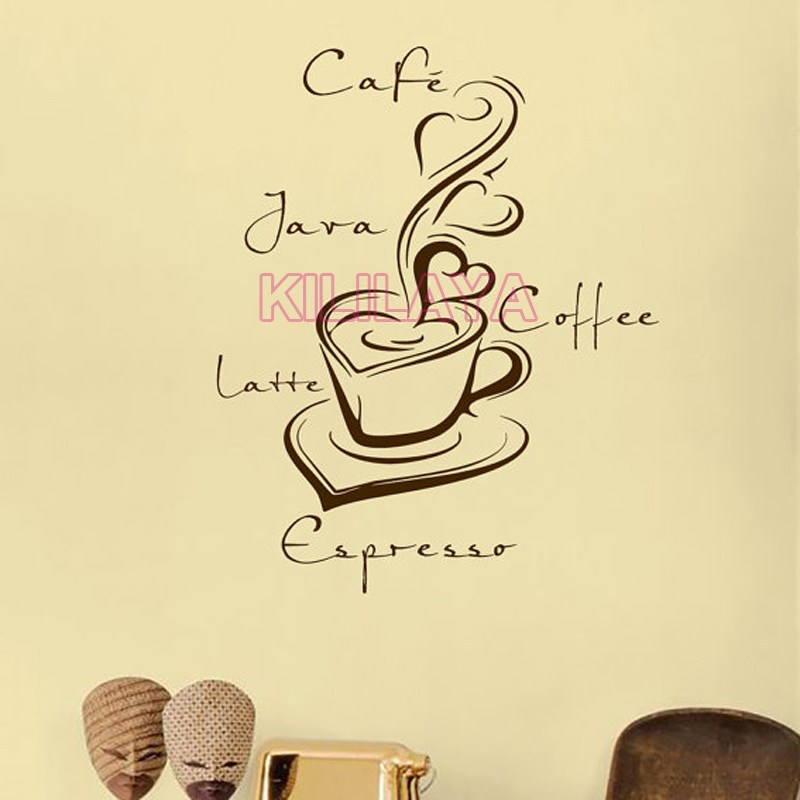 Coffee Cup Vinyl Wall Decals