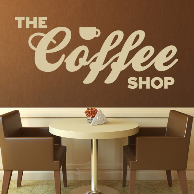 Coffee Shop Wall Decals